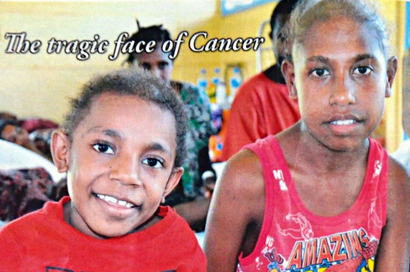 Young patients Rebecca and Benona later succumbed to cancer