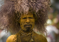 Mt Hagen man in mourning (Pinterest)