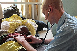 Dave Lean developed a passion for paediatrics while working in Zambia (Mary Lean)