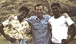 Paul in 1970 with the Pindiu Cooperatives storeman and council clerk Joe Koaba