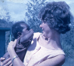 Joan Bladwell with Simbu child c 1966