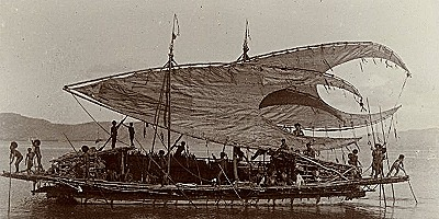 Motu trading ship  1903-1904 (The British Museum)