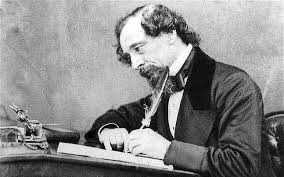 Charles Dickens at work