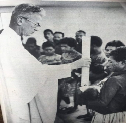Joseph Kiak baptised by Fr Mussig at Neragaima in 1965