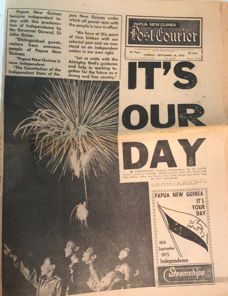 Post Courier Independence Day