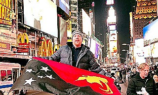 Kumbon - PNG flag in NYC