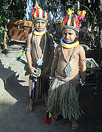Apakali Pupun and his sister Lucy during PNG independence celebrations  2019