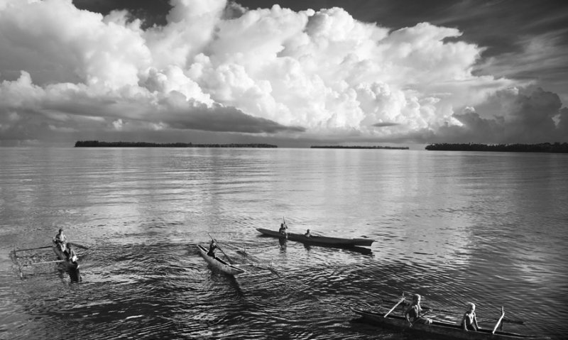 Canoes & storm