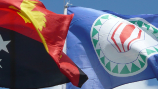 Bougainville and PNG flags (ANU)