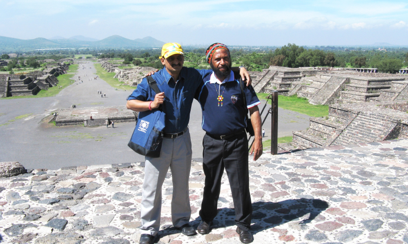 With Dr Shanker on the Pyramid of the Moon