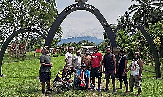 Nickson's team on the Kokoda Track as part of their marathon walk (T4G)