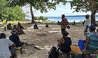 Community consultation at Karawara Island  East New Britain (BRCC)