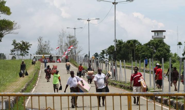 Wutung entry facility at the border between Indonesia and Papua New Guinea (RNZ - Johnny Blades)