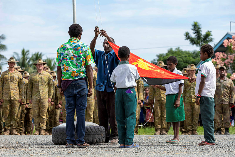 PNG flag raising (Department of Defence)