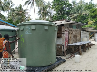 Water tank at Piul Island in Bougainville (BRCC)