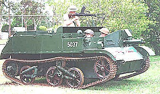 Bren gun carrier fitted with Bren light machine gun and Vickers .303 sub-machine gun (Digger History)
