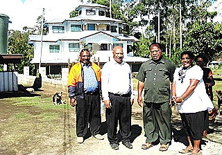 Councillor Lai Michael Kamurai and Mrs Dian Warep at the Dian Ministeries' house in the Tsak Valley_