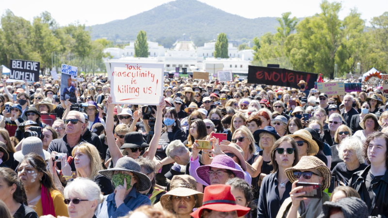 Women's March 4 Justice  Canberra  Monday