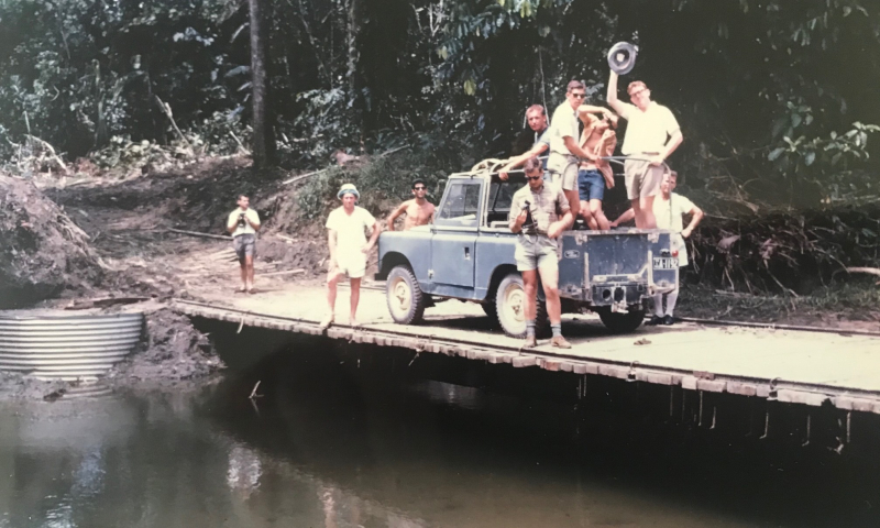 New chalkies hit the road near Wewak  November 1963  aboard the Land Rover we came to know so well
