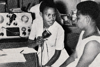 Nellie Exon  the first Tolai woman announcer  at Radio Rabaul