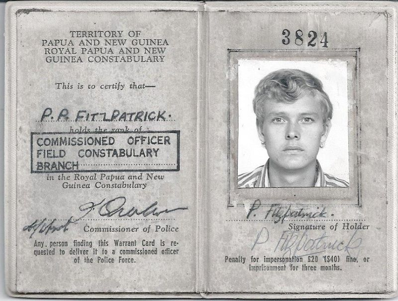 TPNG Police Warrant Card
