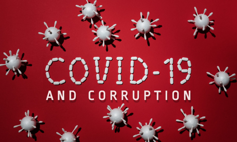 Covid-19-in-red-background