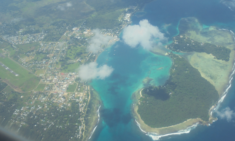 Kumbon - Kavieng from the air