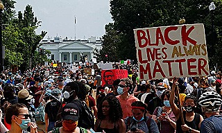 Black Lives Matter protest in front of the White House in Washington DC