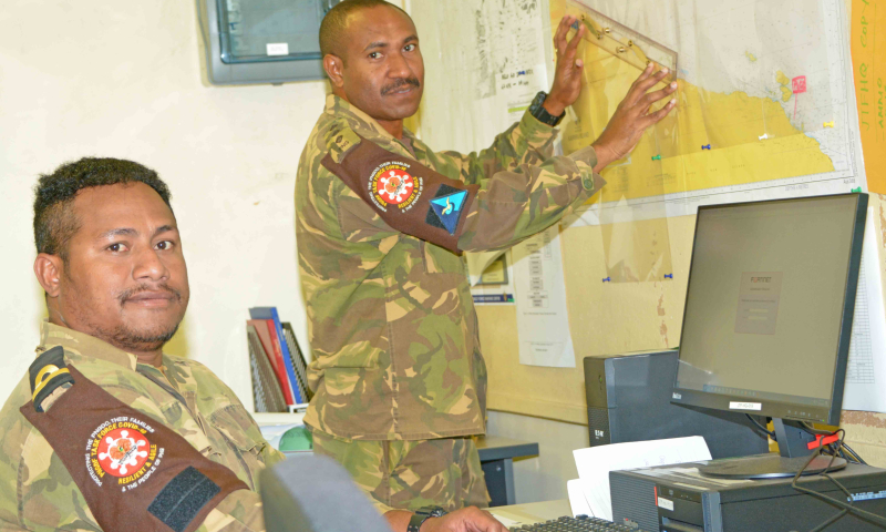 Inside the PNGDF Covid coordination centre