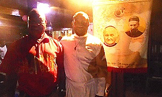 Paul kurai and Br jerry at the end of the service where Br Jerry made his final vows