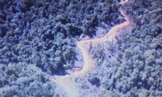 Aerial view of the new Maramuni road
