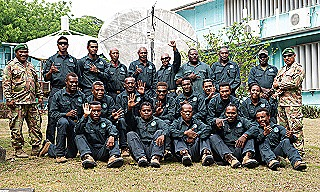 1  - PNGDF IT team pose for a group photo