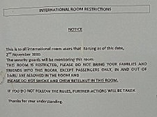 Sil - room restriction notice