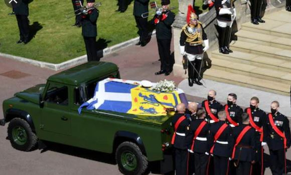 Prince Philip designed this modified Land Rover Defender hearse for his funeral