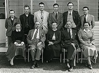Marie Reay (bottom right) and ANU colleagues
