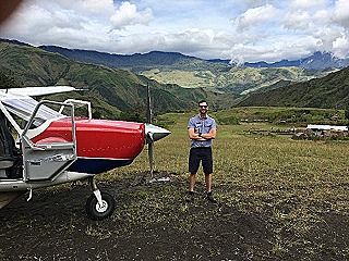 Dave Rogers and his aircraft