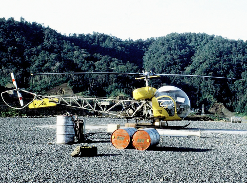 Brown - Pic 2 -  Bell 47G helicopter (Darryl Robbins)