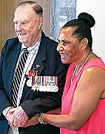 Des Martin awarded the PNG Order of Logohu by consul-general Magdalene Moi-He