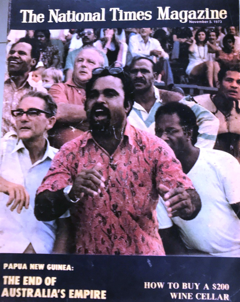 Michael Somare celebrates self-government in 1973; independence was just around the corner