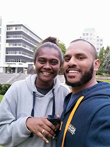 Maggie Tsora and Moses Tekwie