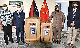 James Marape receives 15 ventilators donated by the Chinese government