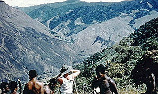 Exploring the high hills in the early 1950s. The late Harry West OAM   war veteran and kiap