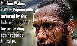 West Papuan man tortured by police