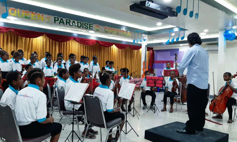 Orchestra performing for parliamentarians  2019