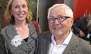 Philip Satchell with wife Cecily  2011